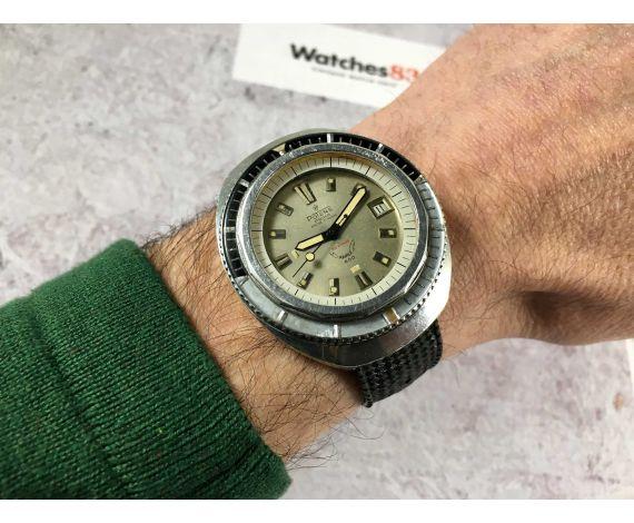 POTENS PRIMA SQUALE 600 Reloj suizo antiguo automático corona roscada Cal. Felsa 4007N GRAN DIÁMETRO *** 60 ATM ***