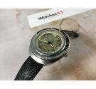 POTENS PRIMA SQUALE 600 vintage swiss automatic screw crown watch Cal. Felsa 4007N OVERSIZE *** 60 ATM ***