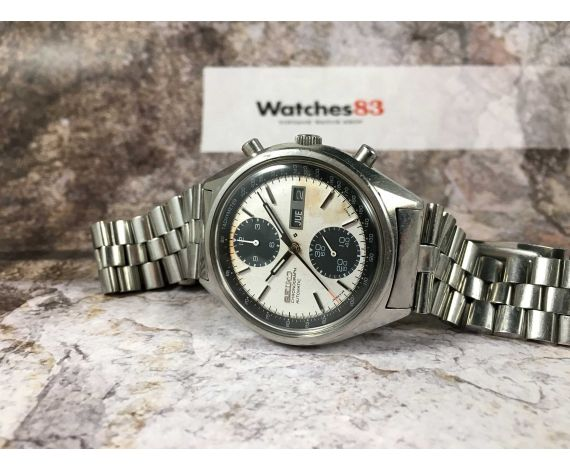SEIKO PANDA Vintage automatic chronograph watch Ref. 6138-8020 Cal. 6138-B SPECTACULAR PATINA DIAL *** ALL ORIGINAL ***