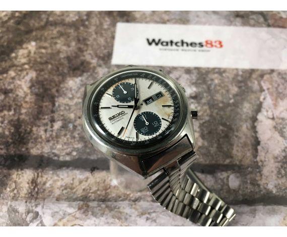 SEIKO PANDA Reloj cronógrafo antiguo automático Ref. 6138-8020 Cal. 6138-B PÁTINA DIAL ESPECTACULAR *** TODO ORIGINAL ***