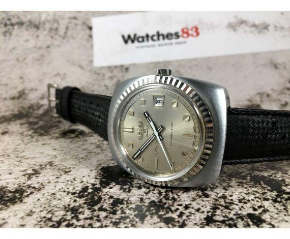 SICURA Reloj suizo antiguo automático 25 Jewels Cal. 158 BF6 *** GRAN DIÁMETRO ***