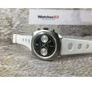 OTAR WATCH Vintage chronograph hand wind watch ALMOST NOS Cal. Valjoux 7730 LOLLIPOP 5 ATM *** PANDA REVERSE ***