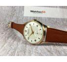 BUMAX Vintage swiss hand wind watch plaque OR Cal. Landeron 501 Textured dial SPECTACULAR *** OVERSIZE ***