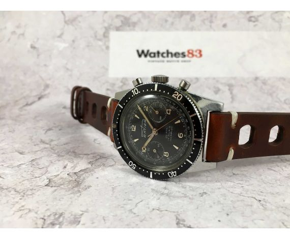 BATIER Vintage swiss hand winding chronograph watch Cal. Landeron 248 Bidirectional bezel 20 ATM DIVER *** SPECTACULAR ***