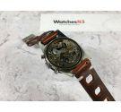 BATIER Reloj cronógrafo suizo de cuerda Vintage Cal. Landeron 248 Bisel bidireccional 20 ATM DIVER *** ESPECTACULAR ***