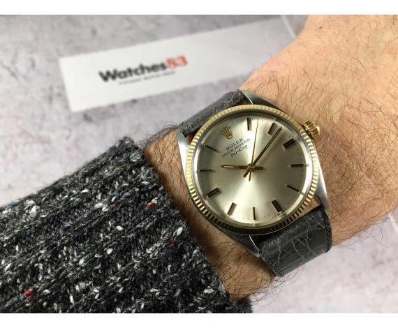 ROLEX OYSTER PERPETUAL AIR-KING Ref. 5501 Reloj suizo vintage automático Cal. 1530 Corona roscada *** COLECCIONISTAS ***