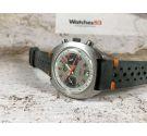 CAMIF Reloj suizo cronógrafo antiguo de cuerda Valjoux 7734 gran diámetro ESPECTACULAR *** DIAL RACING ***