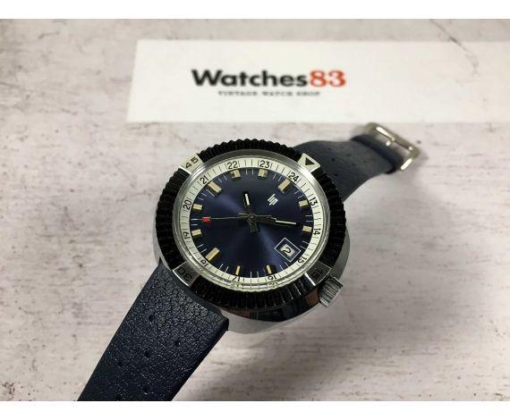 NOS LIP R. Meyer Reloj suizo Diver antiguo de cuerda Cal. R566 Gran diámetro *** NUEVO DE ANTIGUO STOCK ***