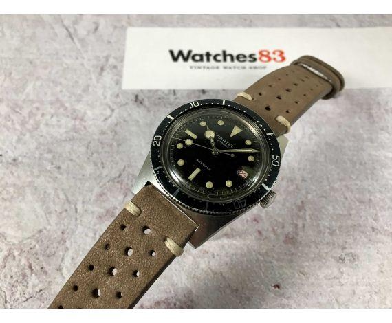 CARTEL Vintage swiss hand wind watch DIVER 23 jewels Cal. EB 8021 bidirectional bezel *** LOLLIPOP HAND ***