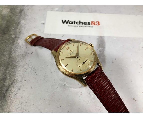 OMEGA Ref. BK 2503-6 Reloj suizo antiguo de cuerda Cal. 265 GRAN DIÁMETRO Plaqué OR *** JUMBO ***