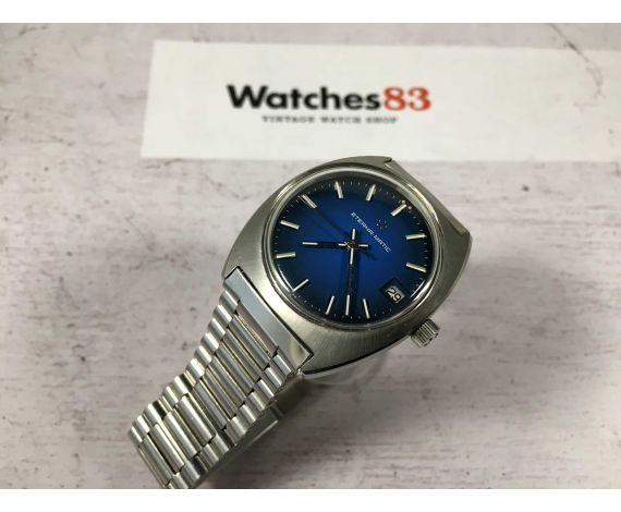 ETERNA MATIC vintage swiss automatic watch Cal 2824 Ref 125T *** BLUE PRECIOUS DIAL ***