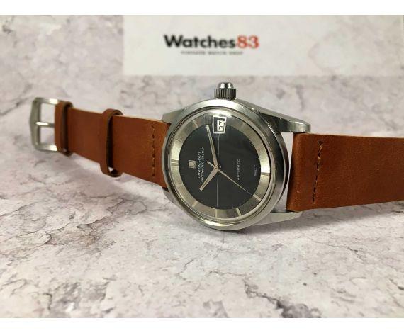 UNIVERSAL GENEVE POLEROUTER SUPER Ref 869112/01 Reloj suizo vintage autom. Cal 69 MICROTOR Corona roscada *** COLECCIONISTAS ***