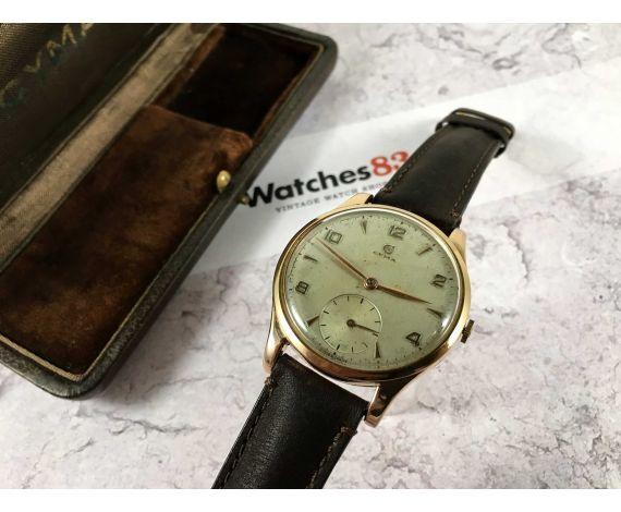 CYMA (TAVANNES) Reloj suizo antiguo de cuerda Cal. 586 Oro 18K 0,750 GRAN DIÁMETRO *** ESTUCHE ***