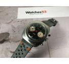 PILOT Chronograph Swiss Vintage manual wind watch Cal. Valjoux 7734 PILOT DIAL ORANGE HAND oversize *** PANDA REVERSE ***