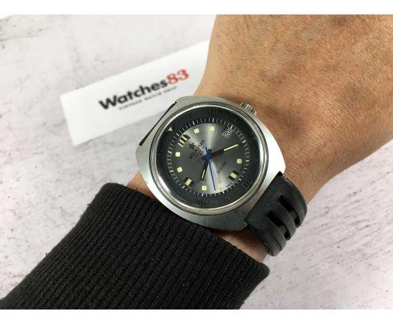 AQUASTAR SA GENÈVE SEATIME Reloj DIVER suizo antiguo automático AS 2063 GRAN DIÁMETRO *** TODO ORIGINAL ***