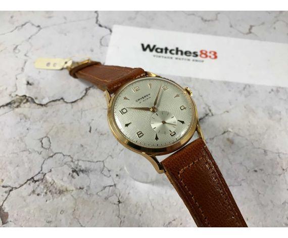 NOS CRYSREY Reloj suizo antiguo de cuerda Plaqué OR Cal. ETA 1120 DIAL TEXTURIZADO gran diámetro *** NUEVO DE ANTIGUO STOCK ***