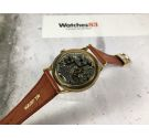 STUDIO Vintage hand winding swiss watch Cal. Vulcain 590 OVERSIZE Plaque OR *** SPECTACULAR DIAL ***