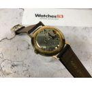 MENSEL reloj suizo antiguo de cuerda GRAN DIÁMETRO *** PLAQUÉ OR ***