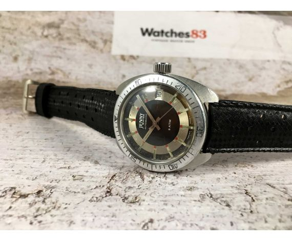 JENNY SWISS Vintage swiss automatic watch 5 ATM Cal. 2452 bidirectional bezel *** DIVER ***