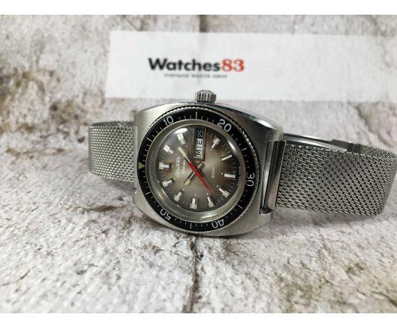 DUWARD AQUASTAR 200M Reloj suizo vintage automático Cal. ETA 2789 GRAN DIÁMETRO *** DIVER ***