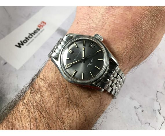 ETERNA-MATIC KONTIKI 20 Ref. 130TT Reloj suizo antiguo automático Cal. 1488K CORONA ATORNILLADA *** ICÓNICO ***