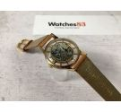 CAUNY SKELETON Vintage swiss hand winding watch Cal. 40 TEXTURED DIAL Plaque or *** RARE ***
