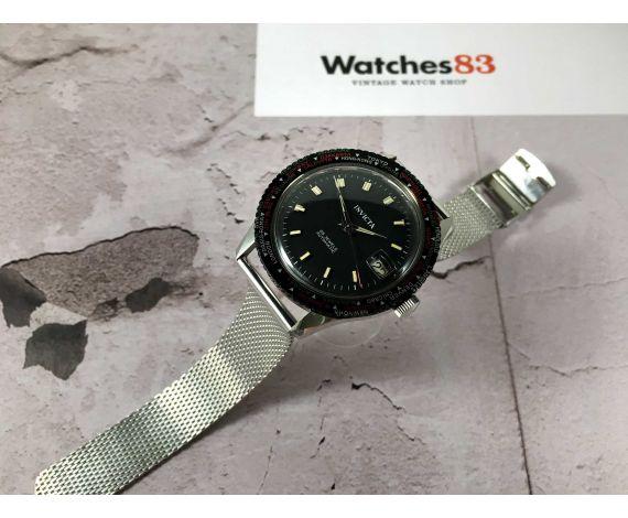 NOS INVICTA WORLD TIME Reloj vintage suizo automático Cal. FHF 90-5 DIVER 25 JEWELS Gran diámetro *** NUEVO DE ANTIGUO STOCK ***