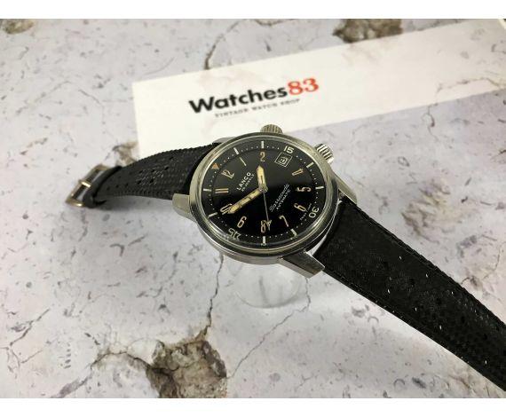 LANCO BARRACUDA Reloj vintage suizo automático DIVER SUPER COMPRESOR Cal. 1146 PÁTINA EN MANECILLAS *** COLECCIONISTAS ***