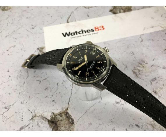 LANCO BARRACUDA swiss vintage automatic watch DIVER SUPER COMPRESSOR Cal. 1146 PATINA HANDS *** COLLECTORS ***