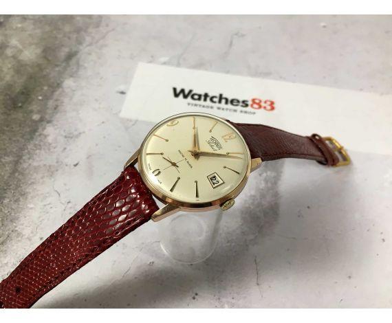 TECHNOS SELECT Reloj suizo antiguo de cuerda Cal. UNITAS 6410 ELEGANTE plaqué or *** MINT DIAL ***