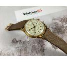 SINEX GENEVE CHRONOGRAPHE SUISSE Vintage swiss hand winding chronograph watch Cal. Landeron 48 PLAQUE OR *** OVERSIZE ***