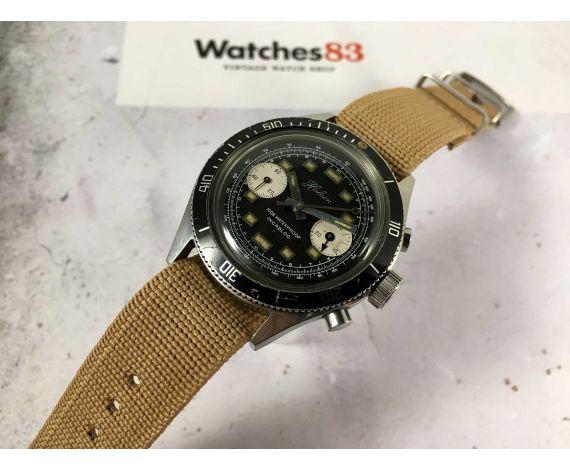 HALCON Reloj cronógrafo de cuerda Vintage Cal. Landeron 248 Bisel bidireccional 12 ATM *** DIVER ***