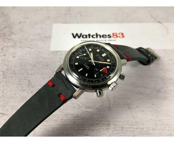 D'IOR Reloj suizo cronógrafo vintage de cuerda 17 JEWELS Cal. Valjoux 7733 *** DIAL ESTILO CROTON ***