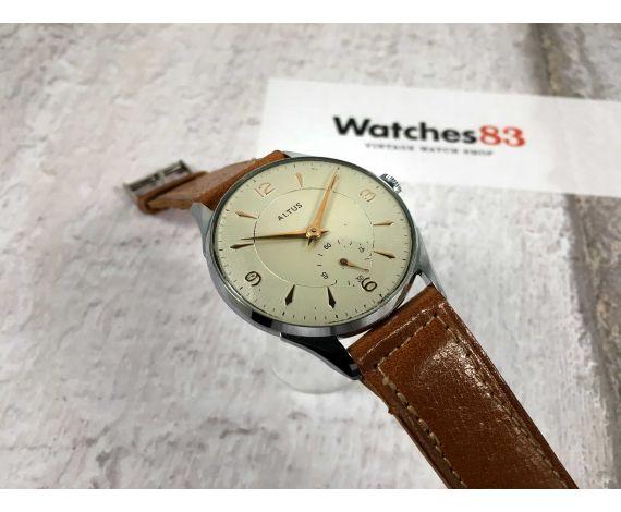 NOS ALTUS Reloj antiguo suizo de cuerda Cal. Unitas 176 Gran diámetro DIAL TEXTURIZADO *** NUEVO DE ANTIGUO STOCK ***