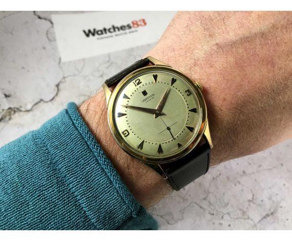 Universal Geneve Cal 1200 Reloj antiguo de cuerda plaqué OR 39 mm JUMBO *** COLECCIONISTAS ***
