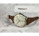 NOS STUDIO Vintage hand winding swiss watch Plaque OR Cal. Vulcain 590 Engraved dial OVERSIZE *** NEW OLD STOCK ***
