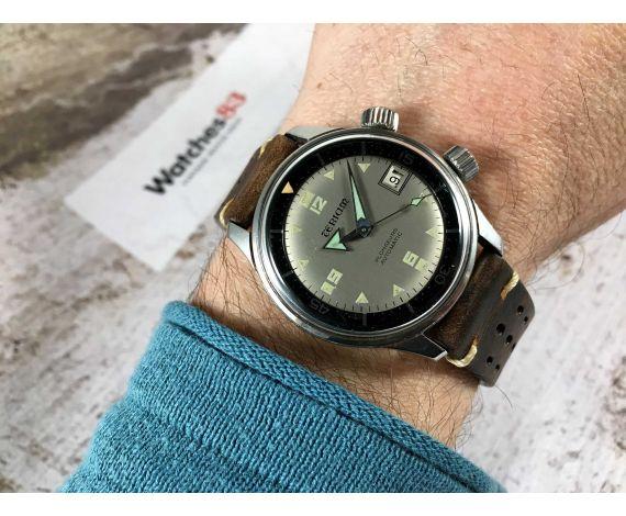 TERIAM PLONGEURS Ref 6152-1701 Vintage swiss automatic watch Cal AS 1700-01 DIVER 25 JEWELS BROAD ARROW *** SUPER COMPRESSOR ***