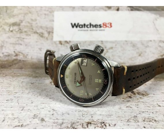 TERIAM PLONGEURS Ref 6152-1701 Reloj suizo antiguo automático Cal AS 1700-01 DIVER 25 JEWELS BROAD ARROW *** SUPER COMPRESOR ***