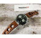 BWC SWISS Vintage swiss hand wind chronograph watch POOR MAN Landeron 149 ARROWHEAD CHRONOGRAPH HAND *** PANDA REVERSE ***