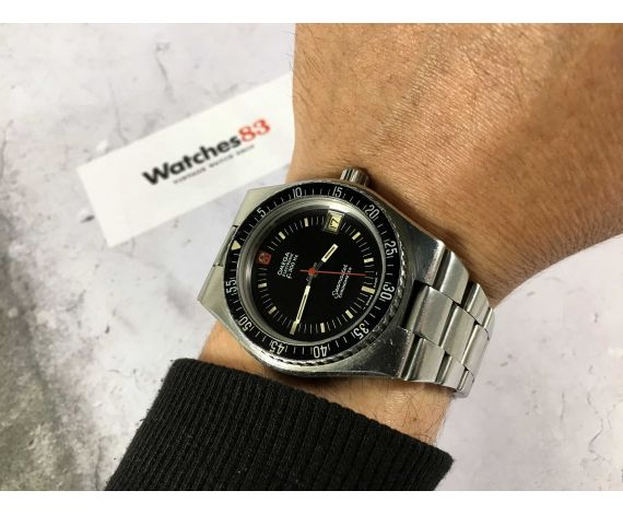 OMEGA ELECTRONIC F300 HZ SEAMASTER Ref. 198.0005 Chronometer vintage swiss watch Cal. 916T SCREW-DOWN CROWN *** DIVER ***