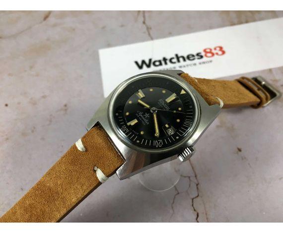 DUWARD AQUASTAR Reloj DIVER suizo vintage automático Cal. AS 1700/01 OVERSIZE Ref. 1701 *** 200 MÈTRES ***
