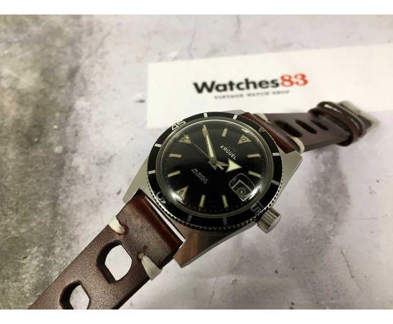 ERGUEL PLONGEURS Vintage swiss automatic watch Cal AS 1700-01 DIVER BROAD ARROW *** 20 ATMOS ***