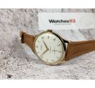 NOS STUDIO Vintage hand winding swiss watch Plaque OR Cal. Vulcain 590 Textured dial. OVERSIZE *** NEW OLD STOCK ***