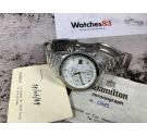 HAMILTON HTC Ref 1898/3 vintage swiss automatic chronograph watch Chrono-Matic 40 JEWELS Lemania LWO 283 *** RARE EDITION ***