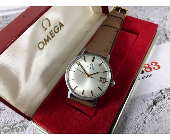 OMEGA GENEVE Ref. 162.009 SP Vintage swiss automatic watch 24 Jewels Cal. 562 + BOX *** BEAUTIFUL ***
