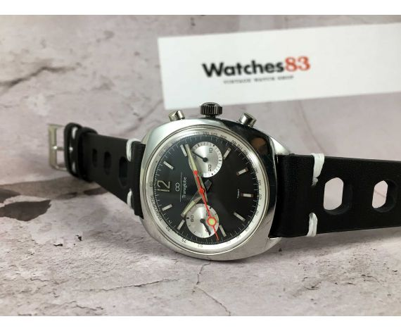 TRANSGLOBE Reloj suizo cronógrafo vintage de cuerda 5 ATM Cal. Valjoux 7733 Ref. 2240 *** LOLLIPOP ***