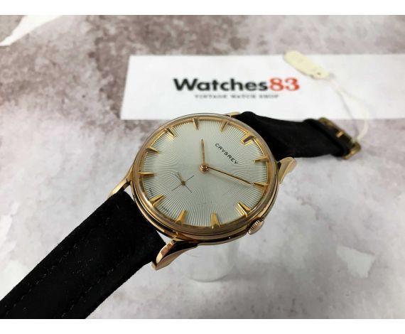 NOS CRYSREY Reloj suizo antiguo de cuerda Plaqué OR Cal. FELSA 750 Gran Diámetro *** NUEVO DE ANTIGUO STOCK ***