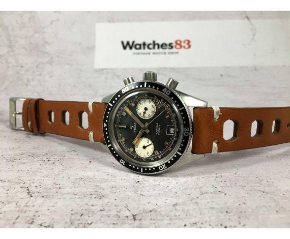YEMA DAYTONA Reloj cronógrafo antiguo de cuerda REVERSE PANDA Cal Valjoux 7734 PÁTINA ESPECTACULAR *** COLECCIONISTAS ***