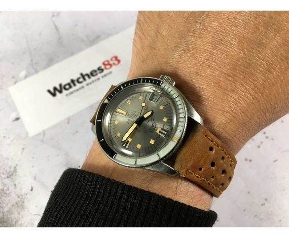 POTENS PRIMA SQUALE Reloj suizo antiguo automático corona roscada Cal. ETA 2452 BISEL BAQUELITA 20 ATM *** ESPECTACULAR ***