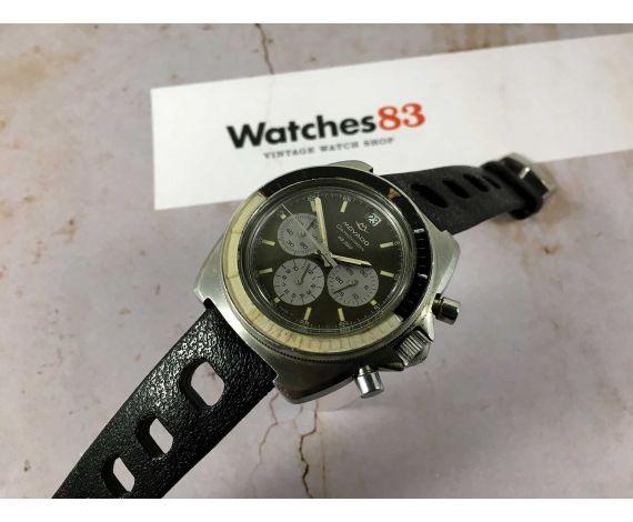 MOVADO DATACHRON HS 360 Reloj suizo crono automático vintage Cal 3019 PHC. SUPER SUB SEA 10 ATM *** DIAL VERDE CHOCOLATE ***